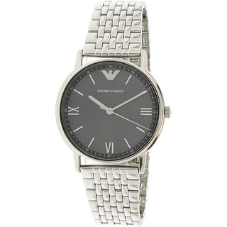 65bca6bec82 Shop Emporio Armani Men s Kappa Silver Stainless-Steel Fashion Watch - Free  Shipping Today - Overstock - 18914598