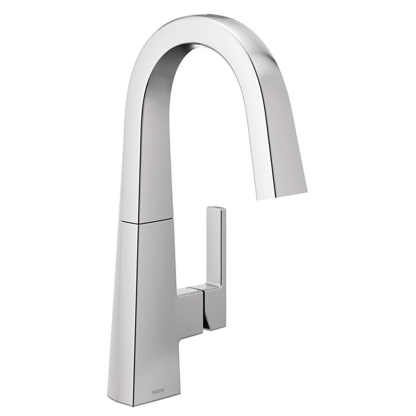 Moen S55005 Nio 1.5 GPM Deck Mounted Bar Faucet with Duralock and Duralast Technology