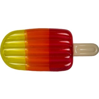 """70"""" Red, Orange and Yellow Translucent Popsicle Swimming Pool Raft Float"""