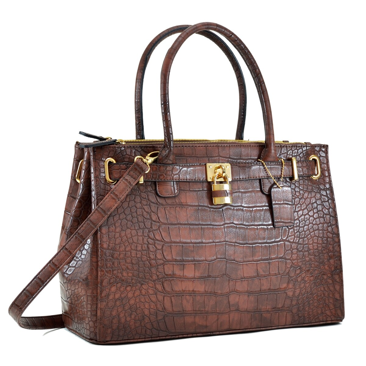 Details about  /PU Crocodile Embossed Elegant Womens Handbags Leather Satchel Tote CrossBody Bag