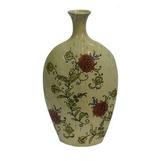 Elegant Multicolor Ceramic Vase - Benzara