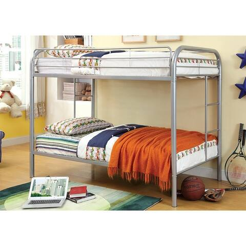 Furniture of America Hind Transitional Twin/Twin Metal Bunk Bed