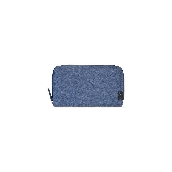 Pacsafe RFIDsafe LX250 - Denim RFID Blocking Travel Wallet w/ Zippered Closure