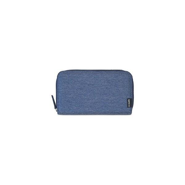 Pacsafe RFIDsafe LX250-Denim RFID Blocking Zippered Travel Wallet w/ 8 Card Slot
