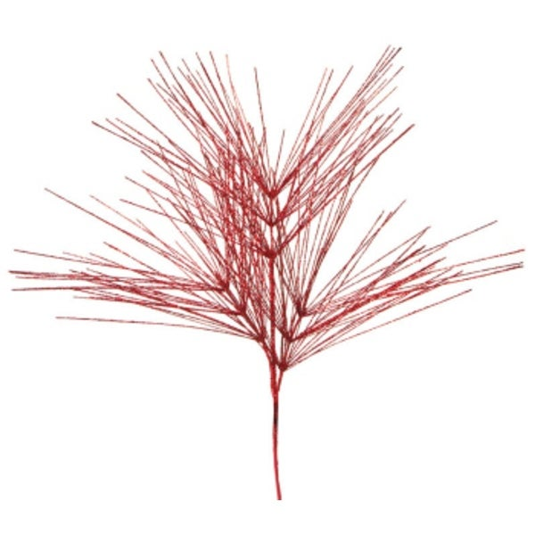 """Pack of 6 Red Glitter Artificial Pine Tree Decorative Christmas Sprays 41"""""""