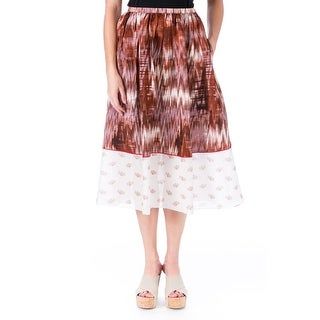 Elizabeth and James Womens Grant A-Line Skirt Silk Printed - 0