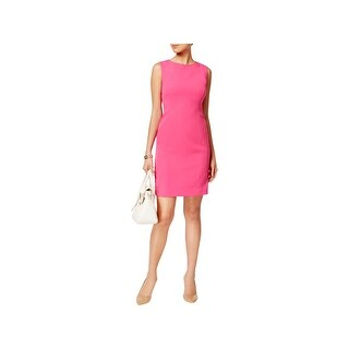 Kasper Womens Petites Wear to Work Dress Textured Sleeveless