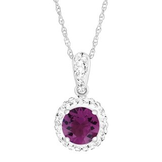 Crystaluxe February Pendant with Purple Swarovski elements Crystals in Sterling Silver