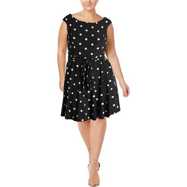 Lauren Ralph Lauren Womens Casual Dress Polka Dot Sleeveless