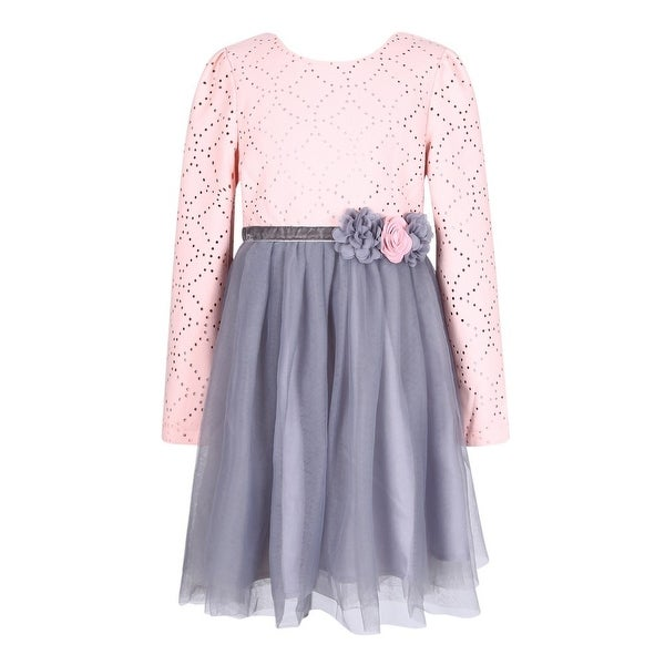 Richie house little girls pink grey floral mesh layered flower girl richie house little girls pink grey floral mesh layered flower girl dress mightylinksfo Gallery