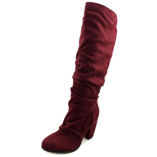 Michael Antonio Musick Women Round Toe Synthetic Burgundy Knee High Boot