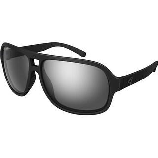Ryders Eyewear Pint Matte Black with Polarized Grey/Silver Flash Lens Sunglasses