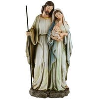 "Joseph's Studio 12"" Holy Family Religious Christmas Tabletop Figure - Blue"