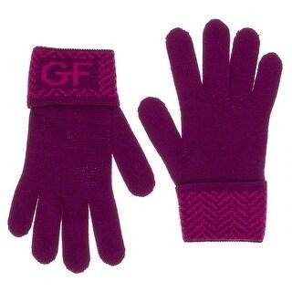 Gianfranco Ferre GUA 01040/1 Purple Wool Blend Knitted Gloves
