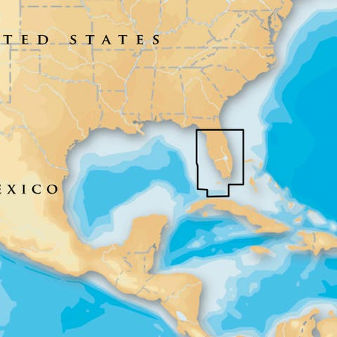 Navionics Platinum Plus South and Central Florida Platinum Plus South and Central Florida - Blue