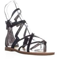 Circus by Sam Edelman Bevin Flat Sandal Gladiator Sandals, Black