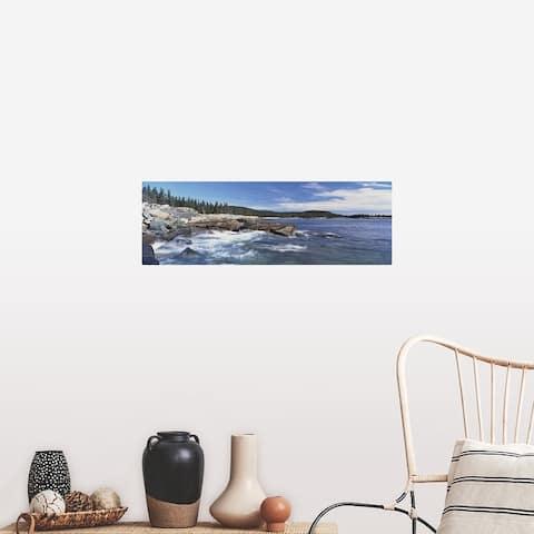 """Maine, Acadia National Park, Atlantic Ocean, Rocks along the coast"" Poster Print"