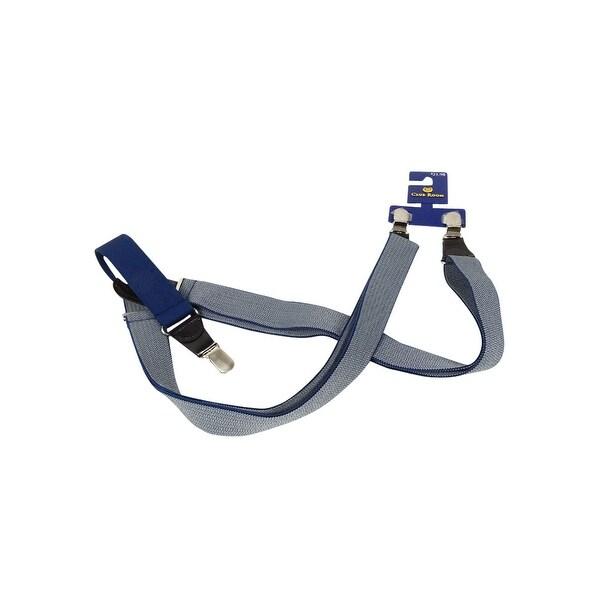Club Room Men's 30mm Herringbone Suspenders (OS, Navy/Grey) - Navy/Grey - os