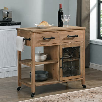FirsTime & Co. Brown Adley Arch Kitchen Cart, Wood