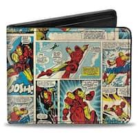 Marvel Comics Iron Man Comic Strip Bi Fold Wallet - One Size Fits most