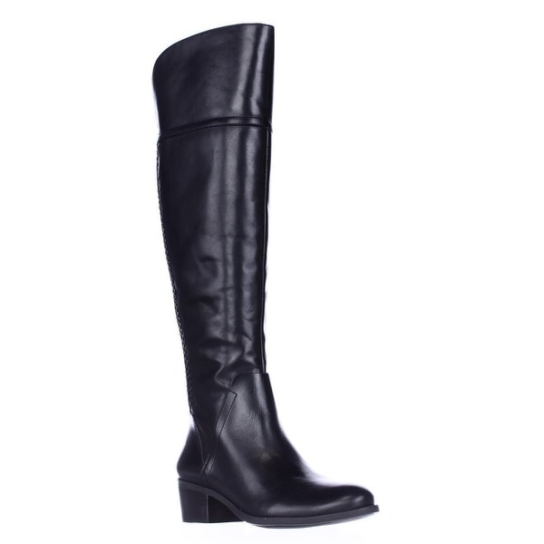 Vince Camuto Bendra Over-the-Knee Woven Boots, Black