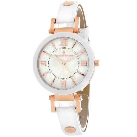 Christian Van Sant Women's Petite White MOP Dial Watch - CV8163 - One Size
