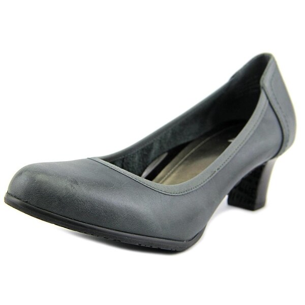 Ros Hommerson Halo Women W Round Toe Leather Gray Heels