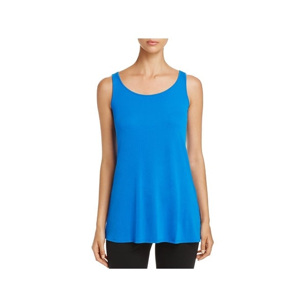 5807631354ae53 Shop Eileen Fisher Womens Tunic Top Silk Scoop Neck - Free Shipping Today -  Overstock - 23448783