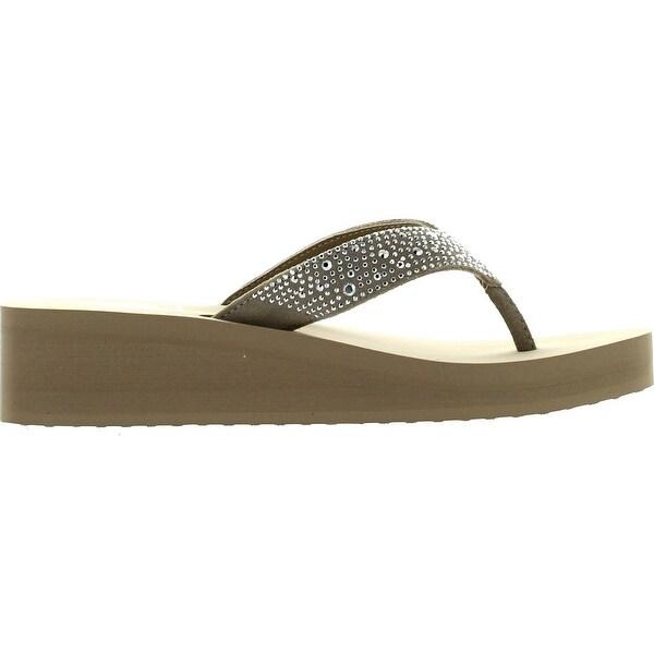 Yellow Box Women/'s Africa Flip-Flop Wedge Sandals NEW