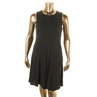 Lauren Ralph Lauren Womens Casual Dress Pleated Sleeveless