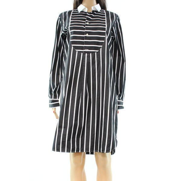e855f672931 Shop Polo Ralph Lauren NEW Black White Striped Women s 8 Shirt Dress - Free  Shipping On Orders Over  45 - Overstock - 18375468