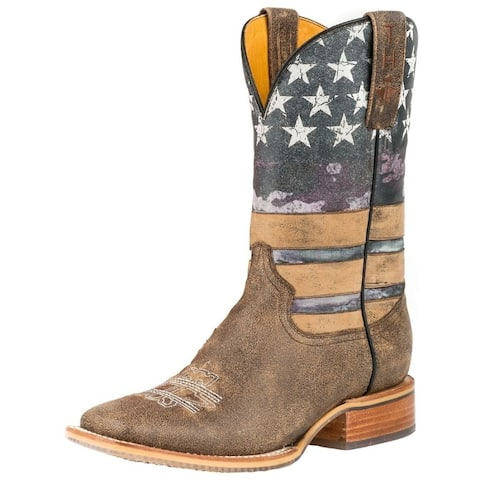 Tin Haul Western Boots Womens American Flag Multi