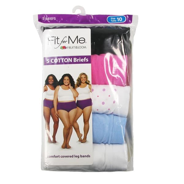 Fruit Of The Loom Women S Plus Size Briefs Pack Of 5 Overstock 15104083 Women's plus fit for me heather brief panty, 6 pack. fruit of the loom