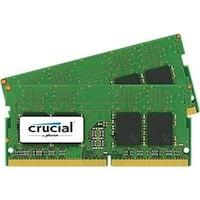 Crucial 16Gb Kit (8Gbx2) Ddr4 2400 Mt/S (Pc4-19200) Sodimm 260-Pin Memory (Ct2k8g4sfs824a)