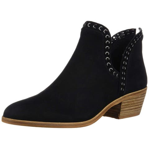 Vince Camuto Womens Prafinta Leather Closed Toe Ankle Chelsea Boots