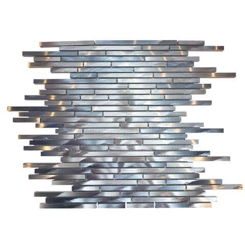 """Mason 1"""" x 3"""" Metal Mosaic Tile(11 Pieces/ 11 sq ft)-CASE - 12""""X12"""" case of 11"""