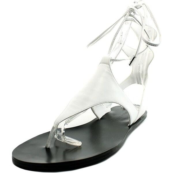 Kendall + Kylie Faris Women Open Toe Leather White Gladiator Sandal