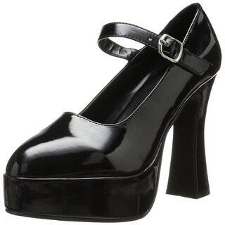 Mary Jane Women's Costume Platform Shoe, Black