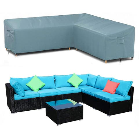 Outdoor Sectional Cover V Shaped Patio Furniture Covers