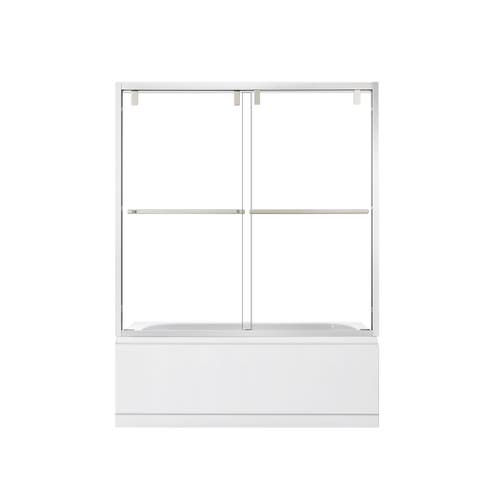 "Brescia 60"" W x 58"" H Sliding Framed Tub Door in Polished Chrome - 60"" W x 58"" H"