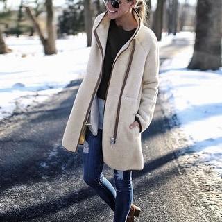Fuzzy Fleece Long Coat