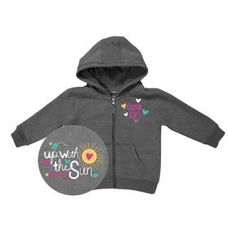 Farm Girl Western Sweatshirt Girl Up With Sun Charcoal F63037091