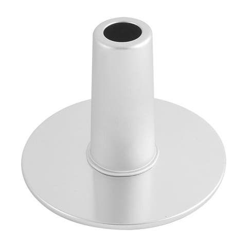 Bakery Kitchen Aluminum Rotating Cake Stand Modelling Mould Silver Tone