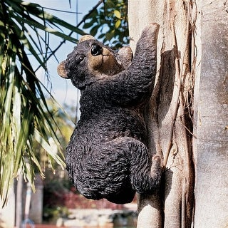 Design Toscano Yonva, the Climbing Bear Sculpture