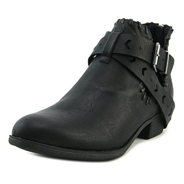 Sugar Tiggles Women Round Toe Synthetic Black Ankle Boot