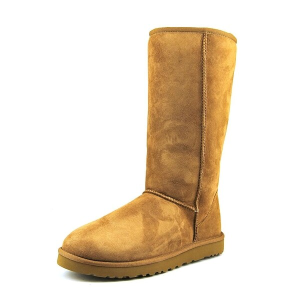 Ugg Australia Classic Tall Women Round Toe Suede Tan Winter Boot