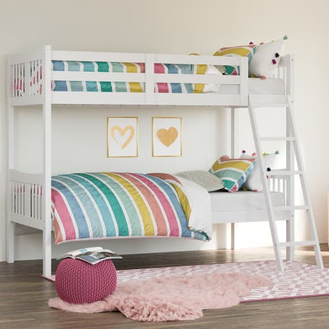 Storkcraft Caribou Twin-over-Twin Hardwood Bunk Bed