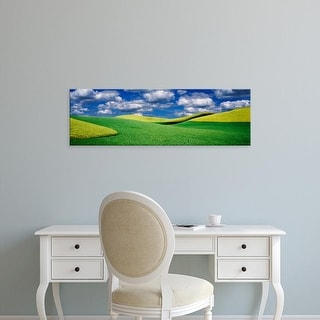 Easy Art Prints Panoramic Images's 'Clouds over a canola field, Palouse, Washington State, USA' Premium Canvas Art