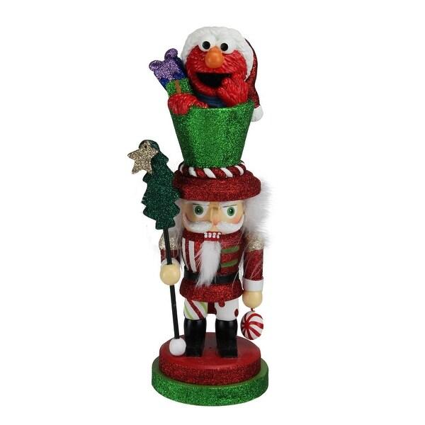 "12"" Sesame Street Elmo Decorative Hollywood Christmas Nutcracker"