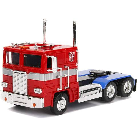 Transformers G1 Optimus Prime Truck 1:24 Die Cast Vehicle - Red